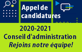Appel à candidatures 2020-2021